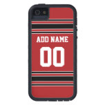 Jersey de equipo con nombre y número de encargo iPhone 5 cobertura
