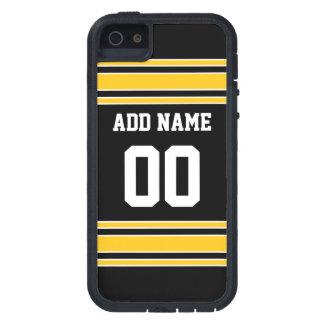 Jersey de equipo con nombre y número de encargo iPhone 5 carcasa