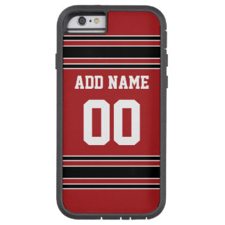 Jersey de equipo con nombre y número de encargo funda de iPhone 6 tough xtreme