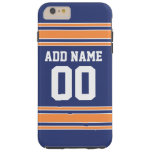 Jersey de equipo con nombre y número de encargo funda de iPhone 6 plus tough