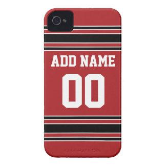 Jersey de equipo con nombre y número de encargo iPhone 4 Case-Mate protectores