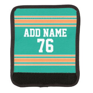 Jersey de equipo con nombre y número de encargo funda para asa de maleta