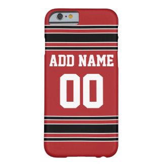 Jersey de equipo con nombre y número de encargo funda para iPhone 6 barely there