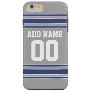 Jersey de equipo con nombre y número de encargo funda para iPhone 6 plus tough
