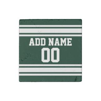 Jersey de equipo con nombre y número de encargo imán de piedra