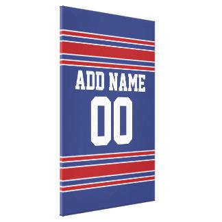 Jersey de equipo con nombre y número de encargo impresión en lienzo