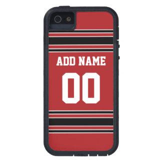 Jersey de equipo con nombre y número de encargo iPhone 5 carcasas