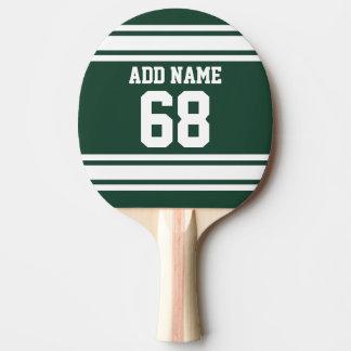 Jersey de equipo con nombre y número de encargo pala de ping pong