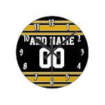 Jersey de equipo con nombre y número de encargo relojes de pared