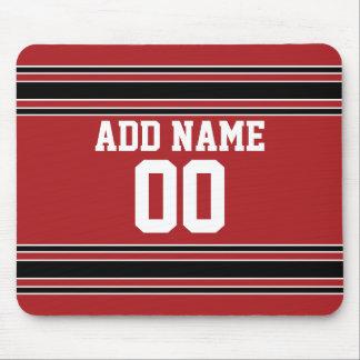 Jersey de equipo con nombre y número de encargo mouse pads