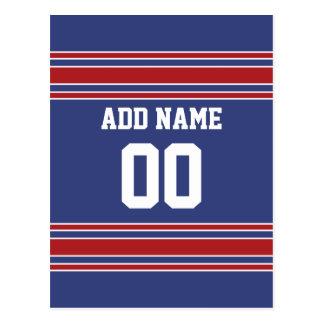 Jersey de equipo con nombre y número de encargo tarjeta postal