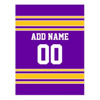 Jersey de equipo con nombre y número de encargo postal