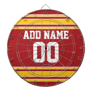 Jersey de equipo con nombre y número tablero dardos