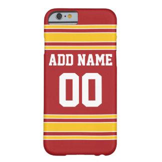 Jersey de equipo con nombre y número funda de iPhone 6 barely there
