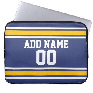Jersey de equipo de deportes con nombre y número manga computadora