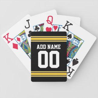 Jersey de equipo de fútbol con nombre y número baraja de cartas bicycle