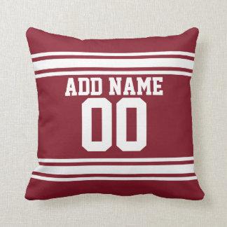 Jersey de equipo de fútbol con número conocido de  almohada