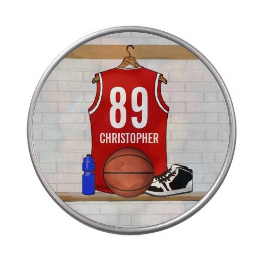 Jersey de equipo rojo personalizado del jugador de jarrones de dulces