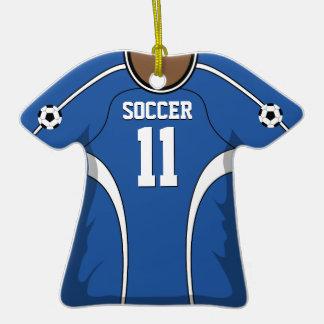Jersey de fútbol azul/blanco personalizado 11 V2 Adornos