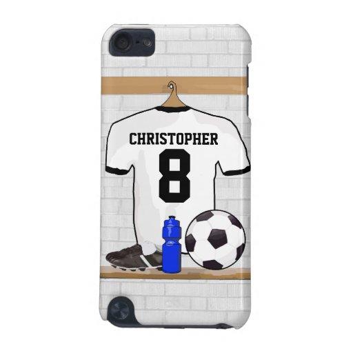 Jersey de fútbol negro personalizado del fútbol de