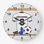 Jersey de fútbol negro personalizado del fútbol de reloj