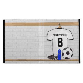 Jersey de fútbol negro personalizado del fútbol