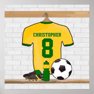 Jersey de fútbol personalizado del fútbol del impresiones