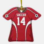 Jersey de fútbol rojo/blanco personalizado 14 V2 Ornato