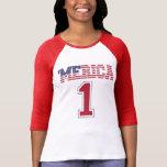 'Jersey de la bandera #1 de MERICA los E.E.U.U. Camisetas