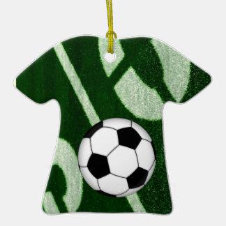 Jersey de la meta del fútbol del fútbol adorno de cerámica en forma de camiseta