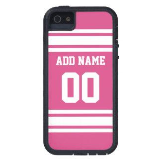 Jersey de los deportes con el nombre y el número - iPhone 5 Case-Mate fundas