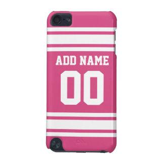 Jersey de los deportes con el nombre y el número - funda para iPod touch 5G