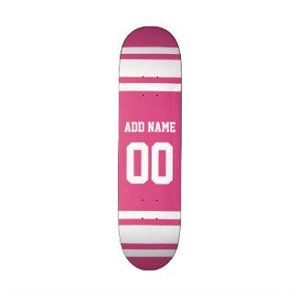 Jersey de los deportes con el nombre y el número - tabla de patinar
