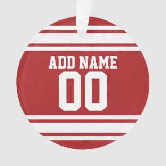 Jersey de los deportes con su nombre y número