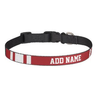 Jersey de los deportes con su nombre y número collares de perro
