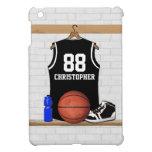 Jersey del baloncesto blanco y negro iPad mini cárcasa