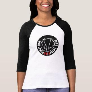 Jersey del béisbol de las mujeres redondas del log t shirts