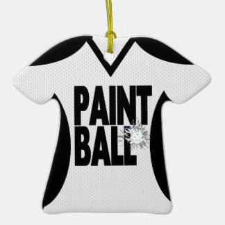 Jersey del deporte de Paintball con la foto Adorno De Navidad