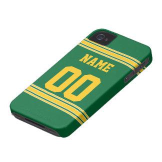 Jersey del fútbol con el área a modificar para req iPhone 4 Case-Mate cárcasas