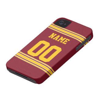 Jersey del fútbol con el área a modificar para req Case-Mate iPhone 4 protectores