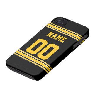 Jersey del fútbol con el área a modificar para req iPhone 4 Case-Mate carcasas