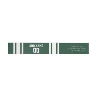Jersey del fútbol con número conocido de encargo etiquetas postales