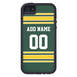 Jersey del fútbol con número conocido de encargo iPhone 5 funda