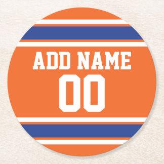 Jersey del fútbol con número conocido de encargo posavasos de cartón redondo