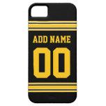 Jersey del fútbol - personalizar con su Info iPhone 5 Cárcasas