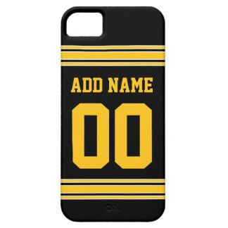 Jersey del fútbol - personalizar con su Info iPhone 5 Funda
