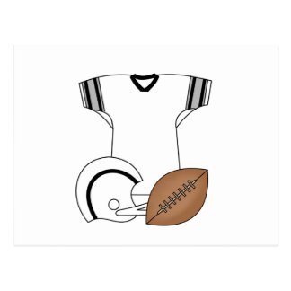 Jersey del fútbol y camisetas y regalos del casco tarjeta postal