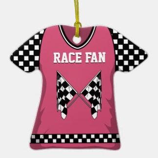 Jersey del rosa de la bandera de la raza ornamento para arbol de navidad