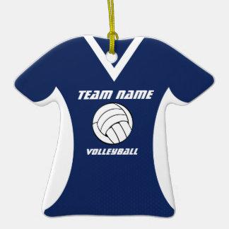 Jersey del voleibol con la foto ornamento para arbol de navidad