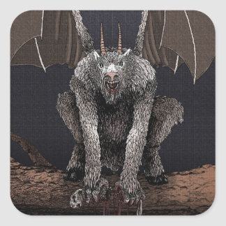Jersey Devil Square Sticker